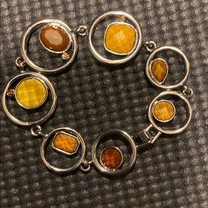 Brown and silver Lia Sophia bracelet